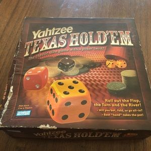 Yahtzee Texas Hold'em dice game